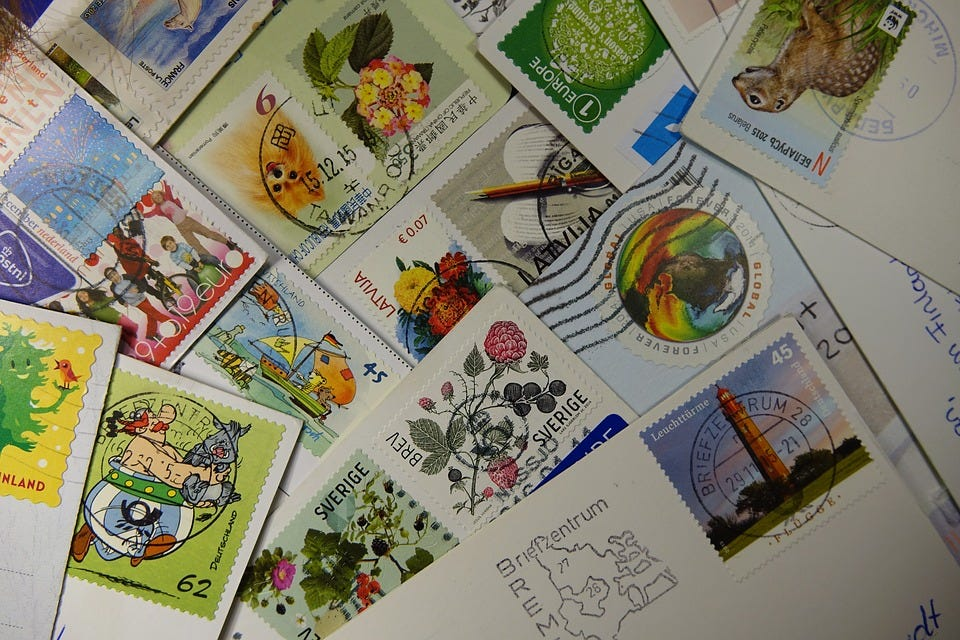 Make Your Snail Mail Beautiful: Colourful Postage Stamps