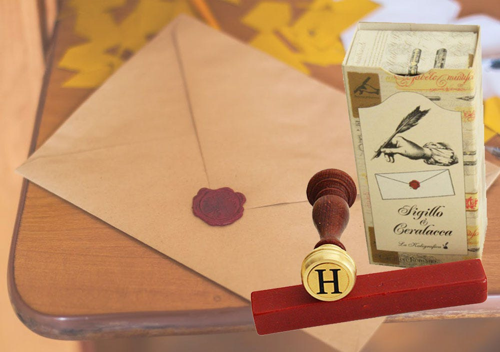 Make Your Snail Mail Beautiful: Wax & Seal Letter Set with Envelope Background